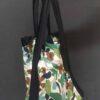 Shopping bag con fasce blu