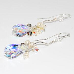 Orecchini argento 925 con goccia in cristallo