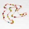 Collana con perle in cristallo colorato