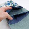 Borsa con fiori blu
