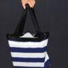 Shopping bag righe blu