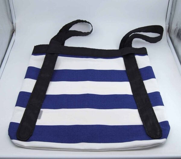 Shopping bag righe blu