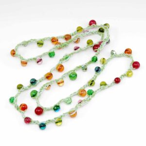 Collana uncinetto multicolor