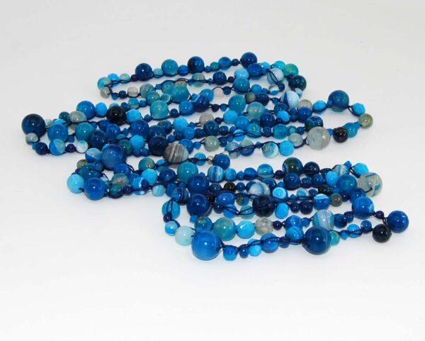 Collana con agate blu