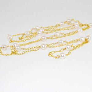 Collana oro con perle di Maiorca
